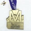 3D custom your own logo cheap alloy metal sports running medals