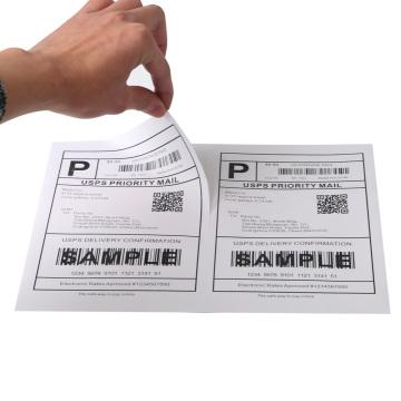 Étiquettes d'expédition adhésives demi-feuille autocollant en papier A4