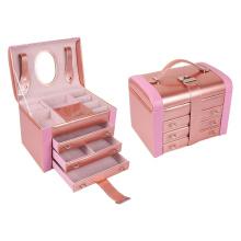 Pearly couro PU jóias organizador caso caixa / caixa de jóias de casamento
