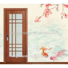 Venez avec un cadre douillet en verre intérieur porte en bois porte d'intérieur