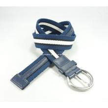 Plain Canvas Waist Belt with Metal Buckle (EUBL0490-35)