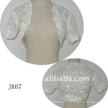JK67 mujeres Beaded manga larga chaqueta de boda