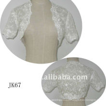 JK67 women Beaded Long sleeves wedding jacket
