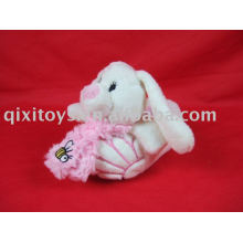 plush rabbit kid's shoes toy, soft winter bunny indoor slipper, EVA fashion slipper