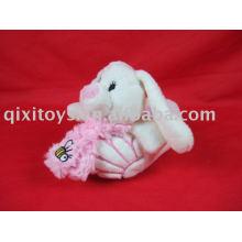 brinquedo do miúdo das sapatas do coelho do luxuoso, deslizador interno do coelho macio do inverno, deslizador da forma de EVA