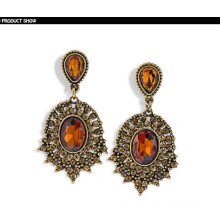 Classy Design Full of Crystal Gemstone Silver Earring
