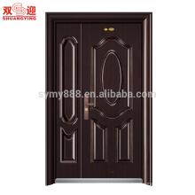 puerta de acero con diseño de puerta de mamá y hijo con bisagra de puerta