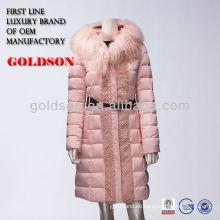 Frauen-Mode Mäntel 2017 in China OEM-Herstellung mit Gänsehaut Daunenjacke