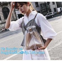 EVA pvc lady packing handbag, Online shop china fashion transparent PVC ladies handbag, holographic handbag