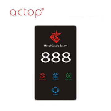 2018 Smart Hotel Electronic Number Doorplate novo design