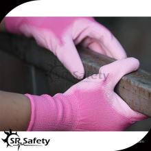 SRSAFETY 13G нейлон лайнер с покрытием pu рабочие перчатки безопасный продукт дешевые перчатки