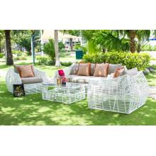 Eagle Collection - Superbe ensemble de canapé en rotin en polyéthylène pour meubles de jardin extérieur