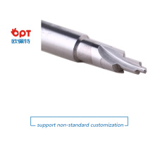 Tungsten carbide spiral flute step drill bit set