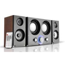 2.1-Multimedia-Home-Lautsprecher mit USB, SD, FM, Fernbedienung