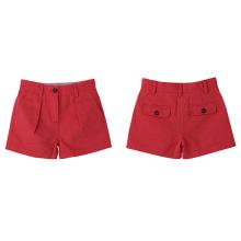Calças curtas de verão 100% algodão para meninas