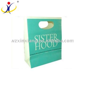 Sacos feitos sob encomenda do cosmético do papel de embalagem / saco cosmético da composição / saco cosmético da forma