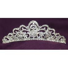 Gute Qualität Mini Discount Custom Hochzeit Tiara glänzend Kristall Braut Krone