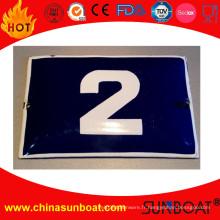 Numéro de la maison de panneau d'inscription d'émail / plaque de porte d'émail