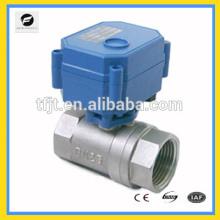 Válvula de bola eléctrica motorizada 5v 6v 12v 24v 110v 220v para agua fría, calentador de agua, control de agua