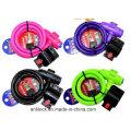 Cerradura de la bicicleta del color, bloqueo de la bicicleta del color, cerradura del cable del color