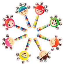 FQ marque enfants colorés en gros jouets en bois hochet bébé