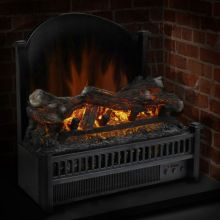 Electric Log Insert with Removable Fireback