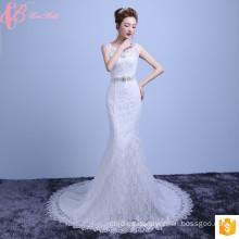 Sexy Mermaid Lace Alibaba largo cola vestido de novia 2017