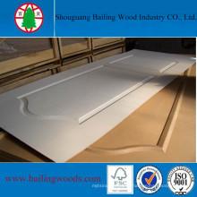 Placa de madeira natural moldada HDF pele da porta