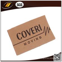 Etiqueta de couro genuíno em relevo para sacos de malha de calças de ganga (HJL40)