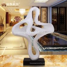 Material de alta calidad de interior al aire libre decoración nube forma blanco estatua artesanía