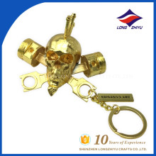 Chinese supplier Custom Skull head metal key chain