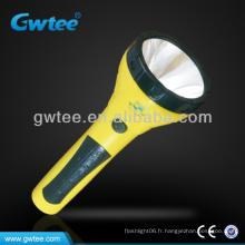 GT-8156 Chargeur rechargeable de lampe de poche à manivelle 1.5W LED