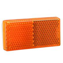 E4 Rectangle UV PC Truck Trailer Amber Reflectors