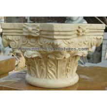 Colonne romaine de marbre de pierre avec colonne (QCM133)