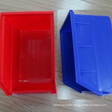 Wall-mounted plastic storage bin