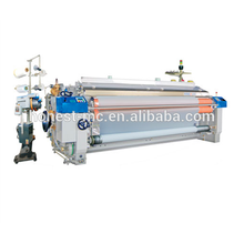 Water jet loom weaving wire mesh has a low invest