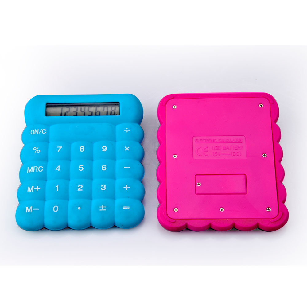Calculatrice en caoutchouc flexible en silicone colorée