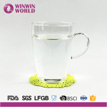 Factory Clear Borosilicate Glass Coffee Mug With Handle