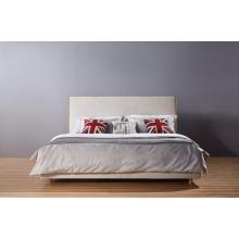Cama moderna, cama de la tela del Hotel, muebles del dormitorio (A07)