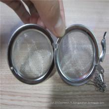 Bouilloire de boule de thé de maille d'acier inoxydable d'assurance commerciale