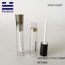 6ml brilhantes Clear Beauty Custom Lip Gloss Tube