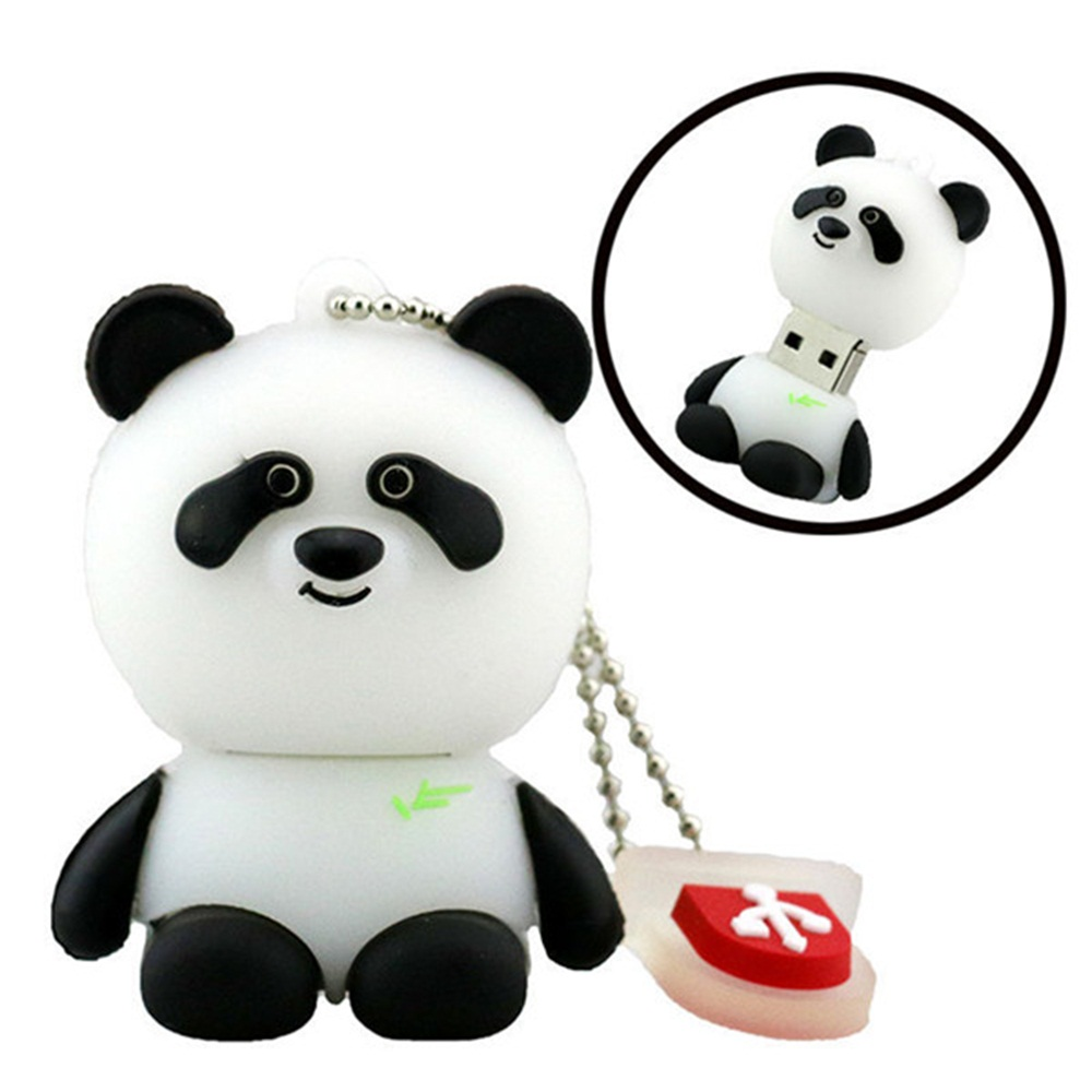Cute design pvc panda custom usb stick