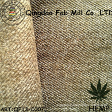 Hemp/Recycled Polyester Twill Fabric for Pants (QF13-0007)