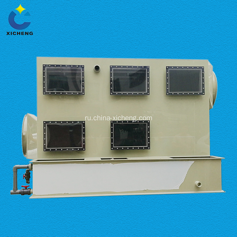 Air scrubber for factory waste gas treatment
