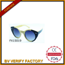 2015 ручной работы Cat глаз деревянные солнцезащитные очки (FX15019)