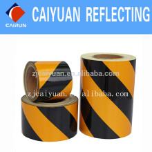 Grade de publicité CY réfléchissant feuilles PET Type jaune/noir