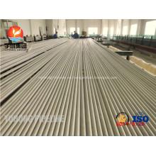 Tubo de acero inoxidable sin costura ASTM A213 TP316Ti UNS S31635 1.4571