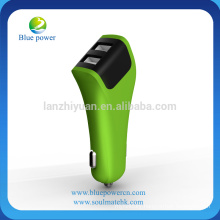 Newest design 5V 3A output car charger dual usb port car charger CE RoHs approved