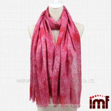 Фиолетовый цветок печати Vogue аксессуар шарф