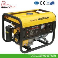 2.5kw, generador de la gasolina del estilo de Europa de la venta caliente de 2.8kw 3kw, generador del CE con el comienzo teledirigido 9 (WH3500)